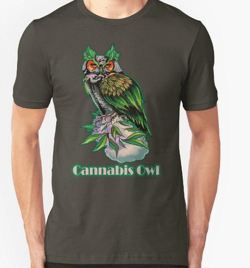 Cannabis owl t-shirt